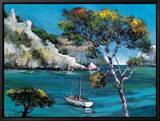 Promenade Dans Les Calanques Tableau sur toile encadré par Roger Keiflin