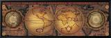 Orbis Geographica II Tableau sur toile encadré