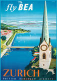 Fly British European Airways to Zurich