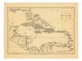 1794, West Indies, Caribbean Giclée