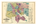 1877, Baltimore City Map 1877, Maryland, United States Giclée