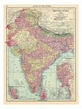 1913, Afganistan, Bhutan, India, Nepal, Sri Lanka, Asia, British India Giclée