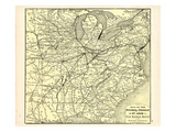 1876  Pittsburgh  Cincinnati and St Louis RR Pan Handle Route  Pennsylvania  United States