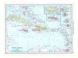 1913, Bahamas, The, Cuba, Dominican Republic, Jamaica, Puerto Rico, Central America, West Indies Giclée