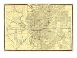 1876  Indianapolis - Plan  Indiana  United States