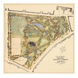 1929, Boston Commons Landscape Survey, Massachusetts, United States Giclée