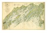 1870  Casco Bay Chart  Maine  Maine  United States