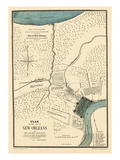 1875, New Orleans 1798 Drawn in 1875, Louisiana, United States Giclée