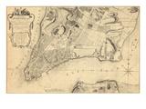 1776, Sondate New York City de 1767, New York, Etats-Unis Giclée