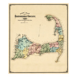 1880, Barnstable County and Cape Cod, Massachusetts, United States Giclée