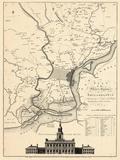 1777, Philadelphia, Pennsylvanie, Etats-Unis Giclée