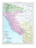 1913, Bolivia, Brazil, Ecuador, Peru, South America, Ecuador, Peru and Bolivia Giclée