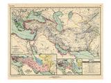 1898, 500 BC, Egypt, Libya, Armenia, Iran, Iraq, Saudi Arabia, Syria, Turkey, Jordan Giclée