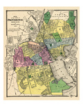 1870  Providence City Map  Rhode Island  United States