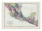 1873, Central America - Mexico, Guatemala, Honduras, San Salvador, Nicaragua Giclée