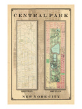 Central Park Development Composition 1815-1867, New York, United States, 1867 Giclée
