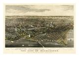 1880  Washington 1880c Bird's Eye View  District of Columbia  United States