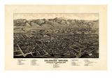 1882  Colorado Springs - Colorado City - Manitou Bird's Eye View  Colorado  United State