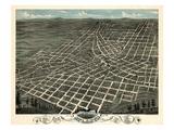 1871  Atlanta Bird's Eye View  Georgia  United States