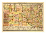 1892  South Dakota State Map  South Dakota  United States