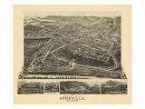 1891  Asheville Bird's Eye View  North Carolina  United States