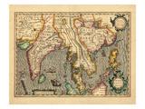 1619, Vietnam, Thaïlande, Sri Lanka, Birmanie, Malaysie, Laos, Inde, Chine, Cambodge, Bangladesh Giclée
