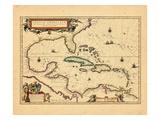 1635, Indes occidentales, Amérique Centrale Giclée