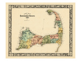 1880, Barnstable County and Cape Cod B, Massachusetts, United States Giclée