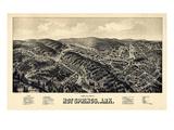 1888  Hot Springs Bird's Eye View  Arkansas  United States