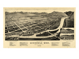 1884  Missoula Bird's Eye View  Montana  United States