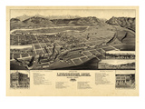 1883  Livingston Bird's Eye View  Montana  United States