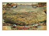 1885  Phoenix Bird's Eye View  Arizona  United States