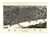 1887  Little Rock Bird's Eye View  Arkansas  United States