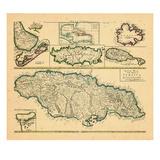 1721, Jamaïque, Indes occidentales Giclée