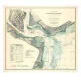 1865, Charleston Harbor Chart South Carolina, South Carolina, United States Giclée