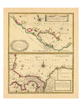 1721, Costa Rica, Indes occidentales Giclée