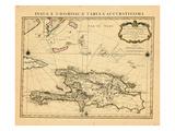 1722, République Dominicaine, Haiti Giclée