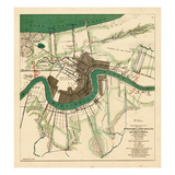 1863, New Orleans City Approaches, Louisiana, United States Giclée