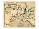 1711, Description complète de la province de Carolie en 3 parties, Caroline du Sud Giclée