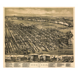 1881  Hoboken Bird's Eye View  New Jersey  United States