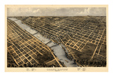 1868  Grand Rapids Bird's Eye View  Michigan  United States