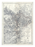 1865  Washington DC  Civil War  Military Wall Map  District of Columbia  United States