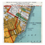 1925, Grosse Point Township, Gratiot Township, Detroit 3, Lake St. Clair, Michigan, United Sta Giclée