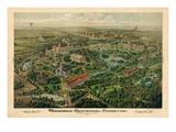 1897  Nashville Bird's Eye View of Centennial Exposition 17x24  Tennessee  United States