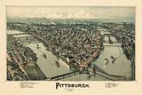 1902  Pittsburgh Bird's Eye View  Pennsylvania  United States