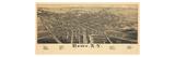1886  Rome 1886 Bird's Eye View  New York  United States