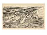 1897, Philadelphia Naval Shipyard Bird's Eye View, Pennsylvania, United States Giclée