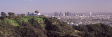 Observatory on a Hill with Cityscape in the Background  Griffith Park Observatory  Los Angeles