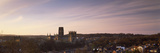 Cathedral in a City at Dusk  Durham Cathedral  Durham  England