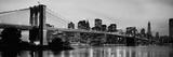 Brooklyn Bridge across the East River at Dusk, Manhattan, New York City, New York State, USA Papier Photo
